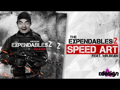 Mr.Bean - The Expendables 2 - SPEED ART