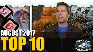 Top 10 most popular board games: August 2017