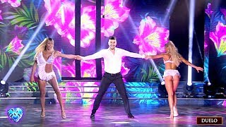 Sin Fernando Bertona, Sol Pérez y Rocío Guirao Díaz bailaron el duelo de la Salsa de a tres