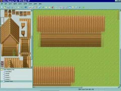 RMXP Video Mapping Tutorial - Forest Town Part 2