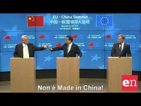 L'auricolare di Juncker non funziona, il premier cinese: Non è Made in China!