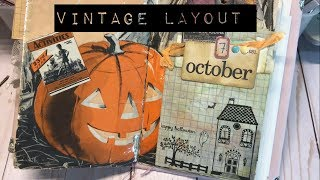 vintage halloween layout | I'm A Cool Mom