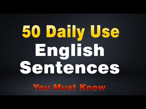 50 Daily Use English Sentences    Spoken English Practice Sentences For Daily Conversation
