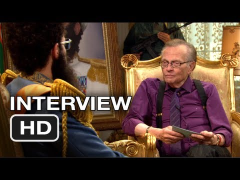 The Dictator  Larry King   Sacha Baron Cohen Movie HD