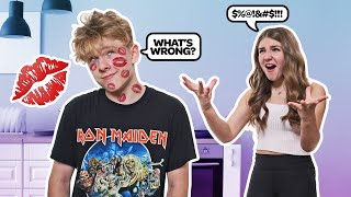 Having ANOTHER GIRLS LIPSTICK On Me PRANK On Girlfriend! **GONE WRONG**💋 |Lev Cameron