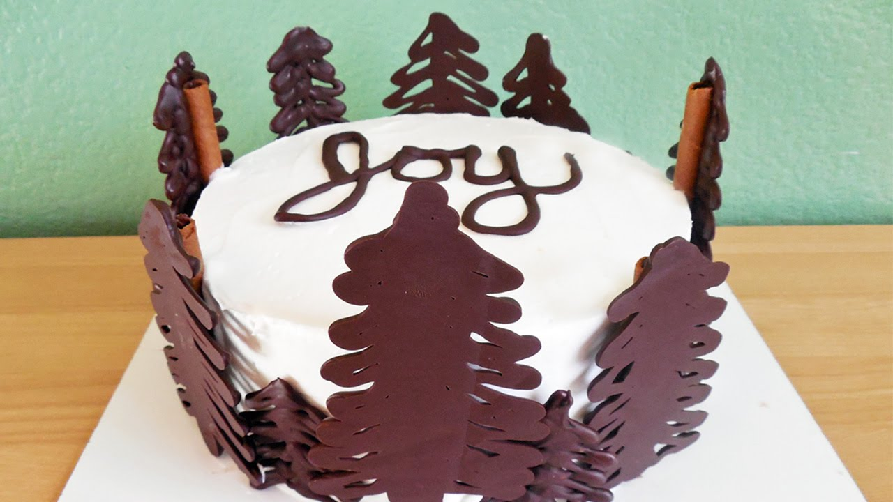 Decorate Chocolate Christmas Cake