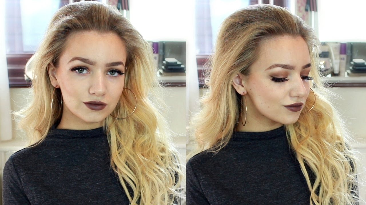 glam slick back curls hair tutorial / night out party hairstyle