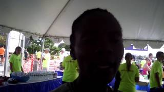 Betsy Saina speaks after win at 2014 Falmouth Road Race