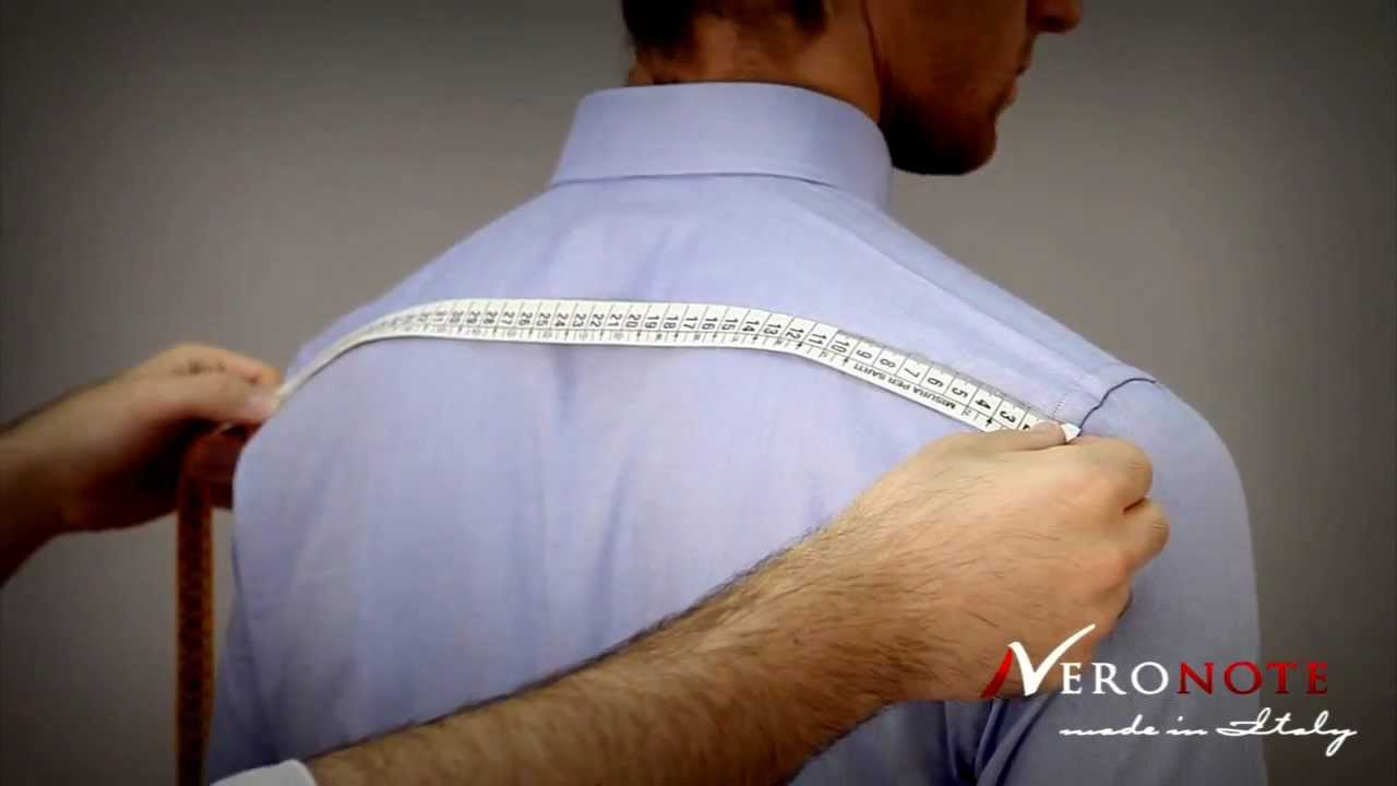 How to measure the shoulders width for a tailored shirt