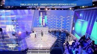 Luigi Di Maio .ospite a Canale5/DomenicaLive  18/2/2018