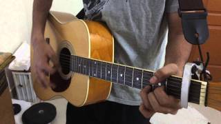 Char Kadam from PK acoustic Guitar cover