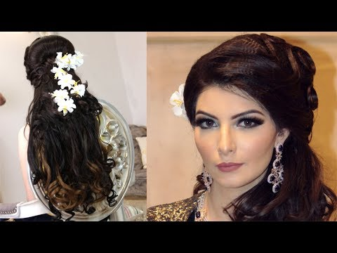 Luxurious Indian Wedding Reception Hairstyle