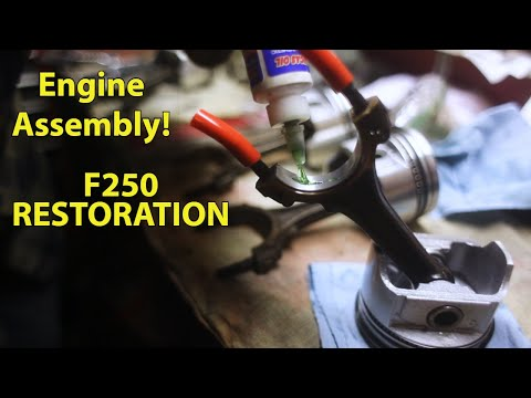 Engine Assembly: New Pistons - F250 Ep 12