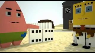 """Спанч Боб в Minecraft. 3 сезон 4 серия """"Домино"""""""