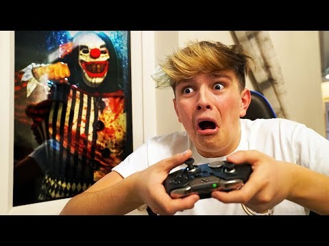 Creepy Clown breaks into house, as Kid wins on Fortnite...