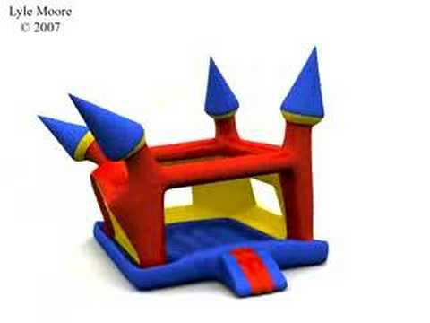 Thumbnail: Maya nCloth Bounce House 3D Simulation