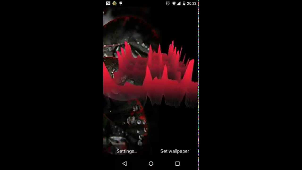 Realtime Audio 3d Equalizer Live Wallpaper You