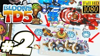 Bloons TD 5 Gameplay Pt 2 - EPIC Monkey Buccaneers! - PC Walkthrough Strategy