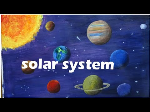 Solar system/students project/acrylic painting