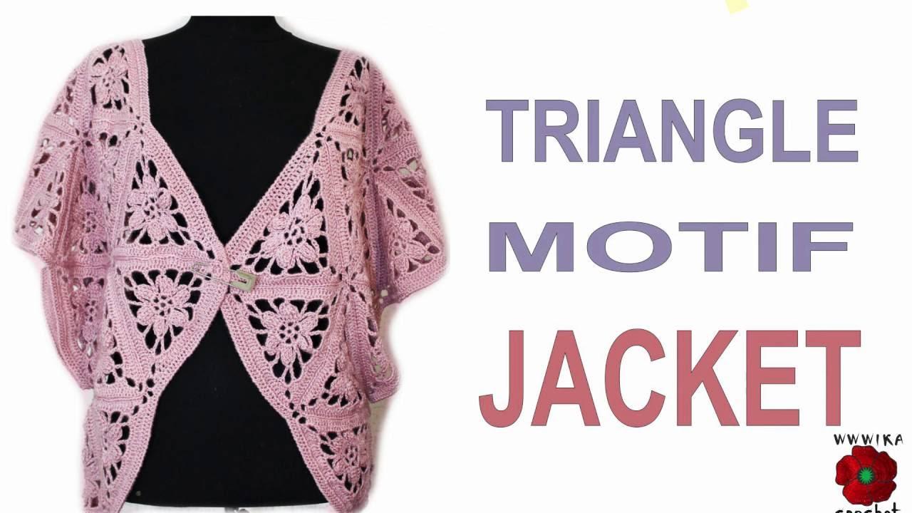 How To Crochet Jacket Lace Triangle Motif Jacket Wika Crochet 12