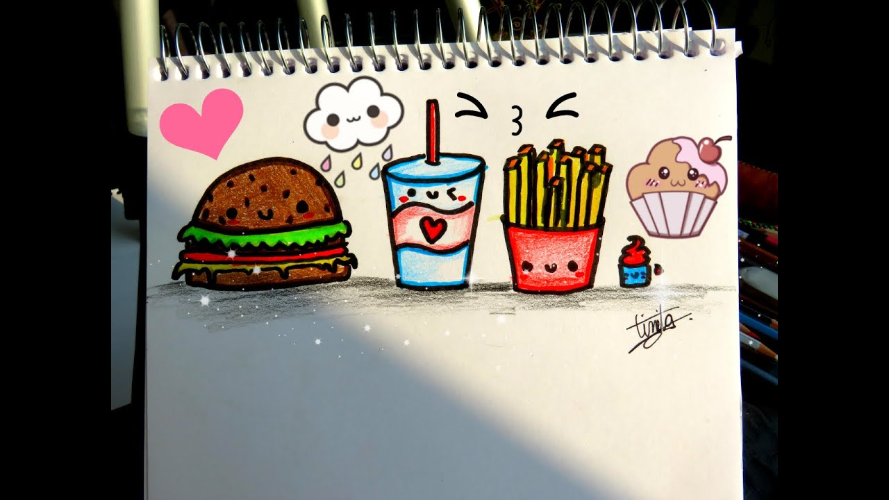 Como Dibujar Comida Kawaii Dibujostinita Tinitacreaciones Youtube