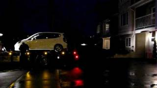 Time Lapse of my friend loading his 2008 Honda Fit Sport onto his towtruck