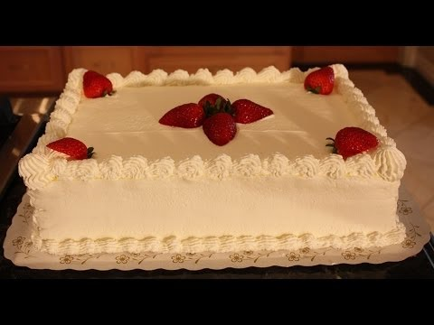 White Sheet Cake Decoration