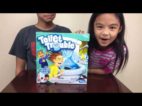 Toilet Trouble Fun Family Game Surprise Eggs | Toys Academy