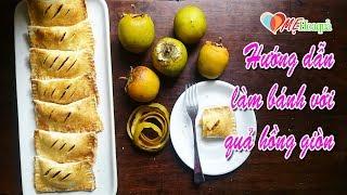 Hướng dẫn làm bánh với  hồng giòn mùa thu Sandwich with crispy Persimmon Tutorial