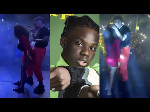 Shocking Moment Rema Kissed & Danced With A Female Fan Live On Stage At Uniport!! 😱 (Full Video)