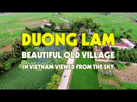Duong Lam - Beautiful old village in Vietnam viewed from the sky