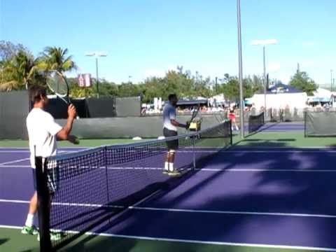 Monfils And Raonic Rally - Sony Ericsson Open