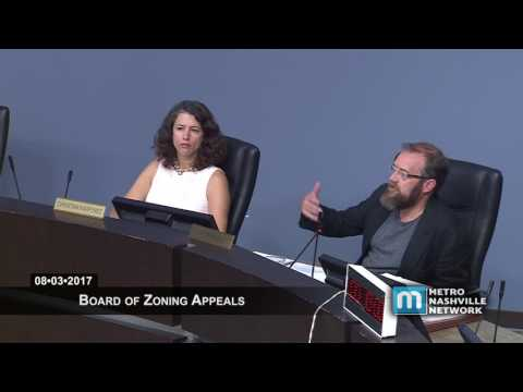 08/03/17  Board of Zoning Appeals