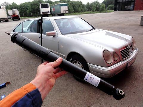 Замена передних амортизаторов Mercedes W210 How To Replace Front Shock Absorbers