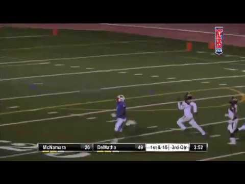 DeMatha Catholic #5 Anthony McFarland 63yd TD catch