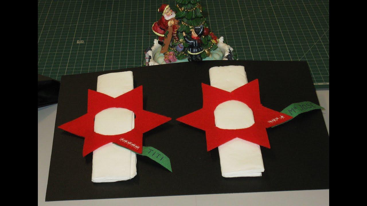 Como hacer un servilletero individual navide o con fieltro - Como hacer motivos navidenos ...
