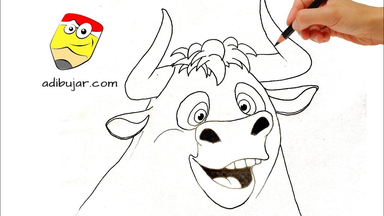 Ferdinand: Cómo dibujar a Ferdinand (toro) a lápiz fácil paso a paso ...