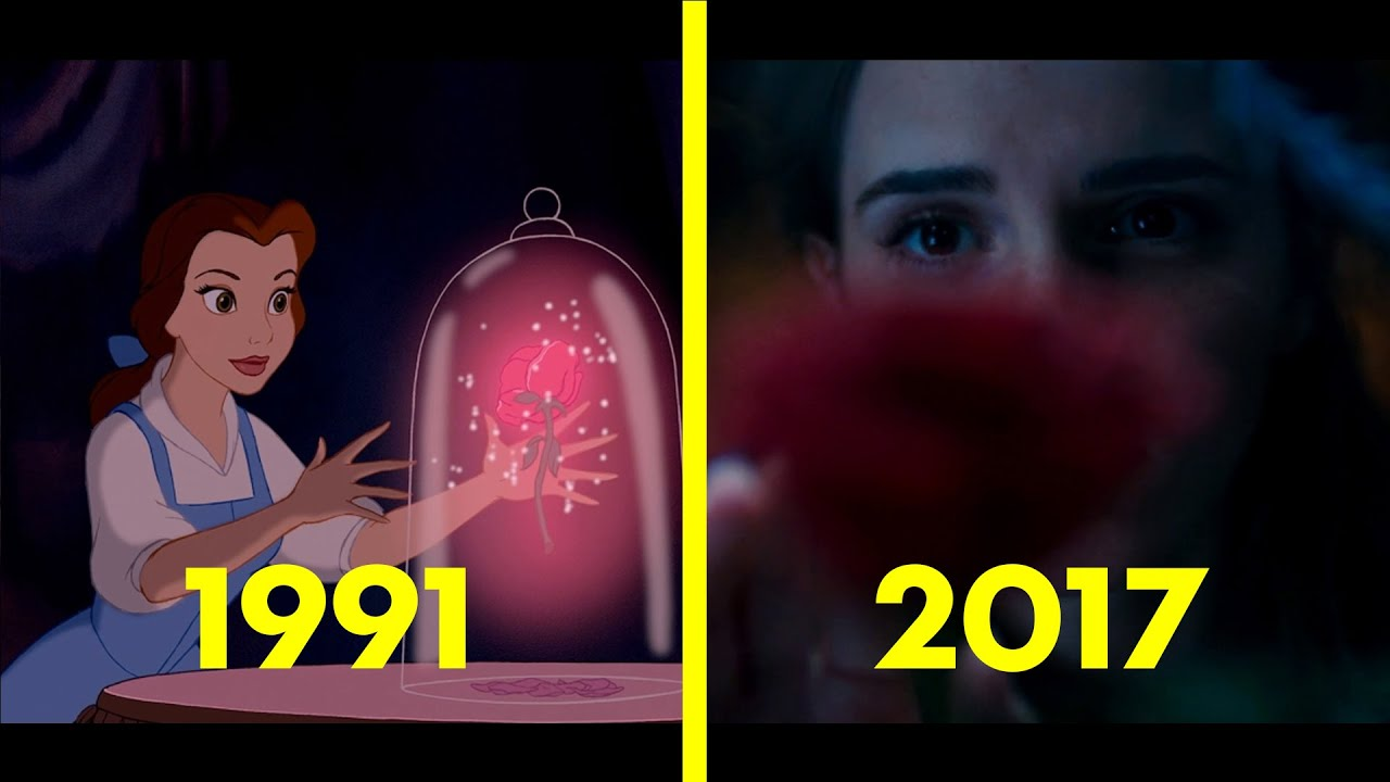 Image result for beauty and the beast animated vs live action
