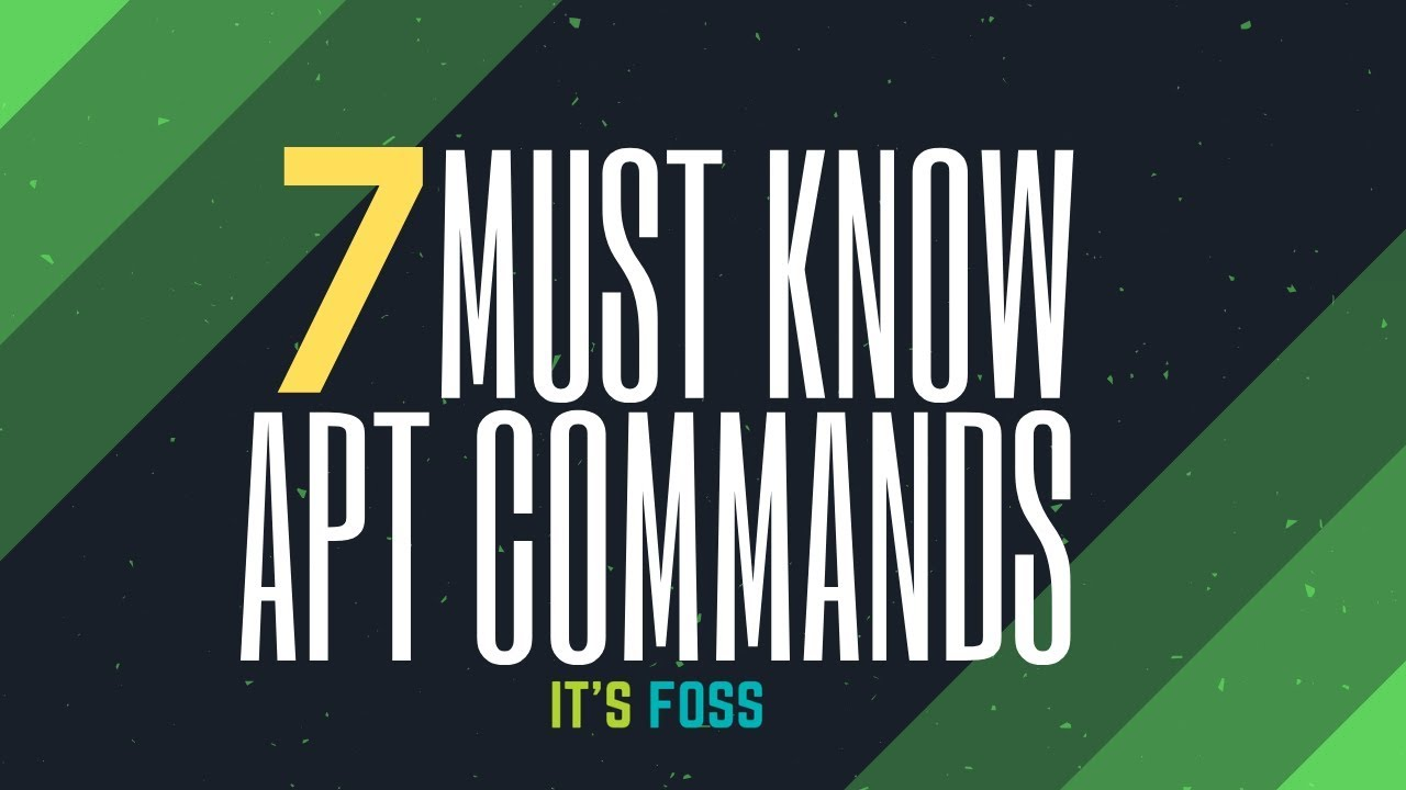 Using apt Commands in Linux [Complete Guide] - It's FOSS