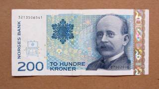 200 Norwegian Kroner Banknote (Two Hundred Norwegian Kroner / 2002), Obverse and Reverse