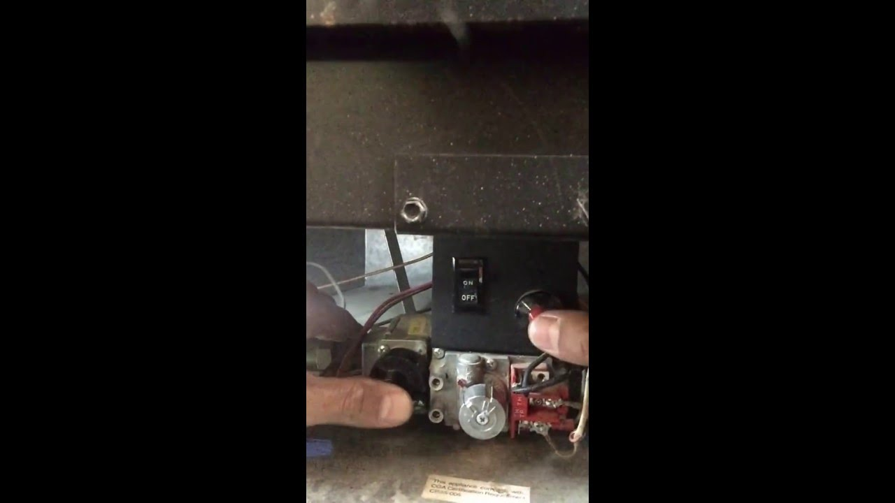 lighting pilot on direct vent gas fireplace repair