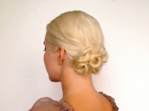 easy shoulder length hair updo Прически на каждый день