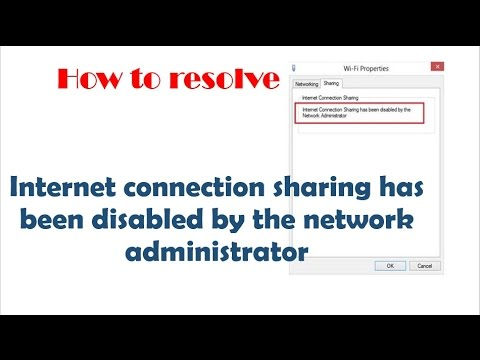 Internet Connection Sharing Has Been Disabled By The Network Administrator | Hindi