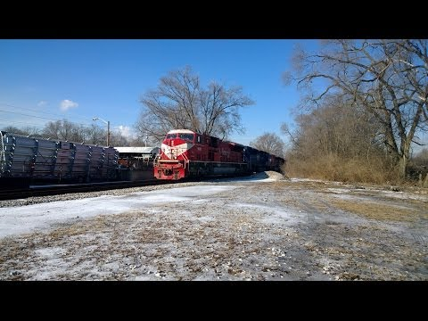 Four (4) INRD and one (1) CIT Leasing SD9043MAC on the HIAWATHA - SOUTH
