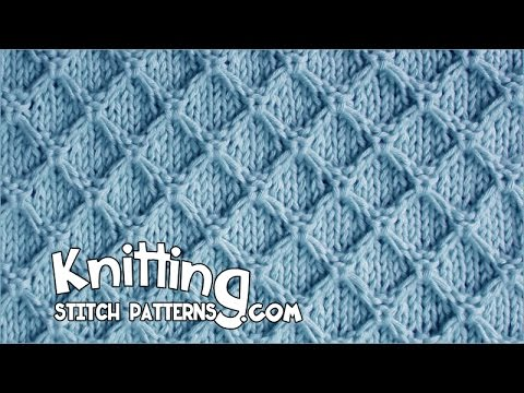 Diamond Honeycomb Stitch YouTube Classy Diamond Knitting Pattern