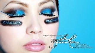 Carolina Panthers Inspired Catty Eye Makeup