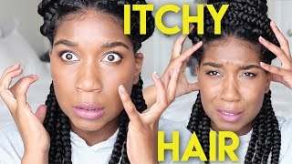 Get Rid Of Itchy Synthetic Hair w/ QUICK VINEGAR RINSE - White Vinegar DEMO