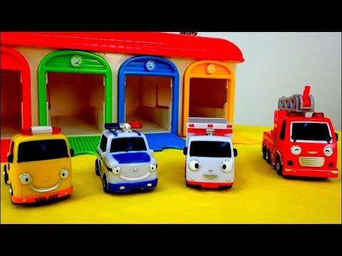 Os carros ajudantes. Coleção. Vídeos de brinquedos.