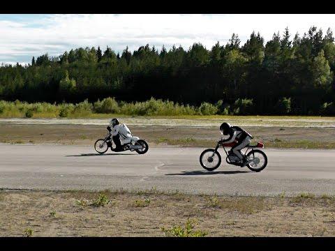 SM Final In Moped Dragrace In Bålsjön Sweden