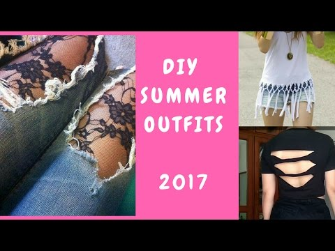DIY EASY SUMMER OUTFITS 2017   INDIA   NO SEW
